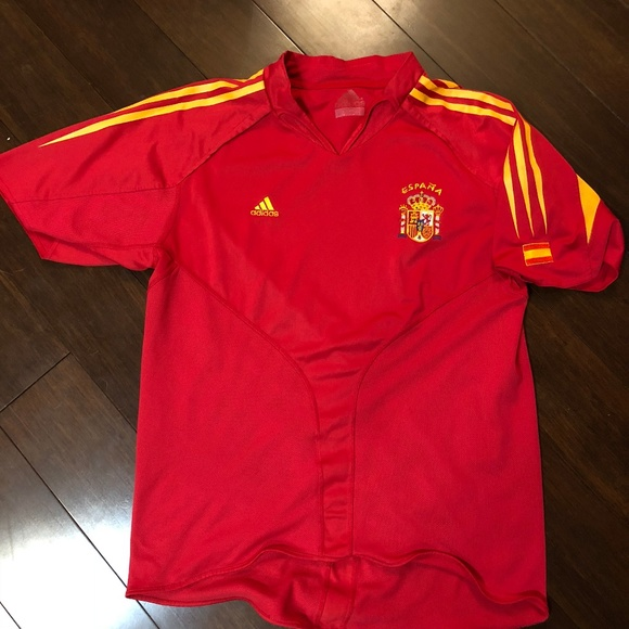 Salón Credencial Arqueología  adidas Shirts | Adidas Spain Football Soccer Jersey Red | Poshmark